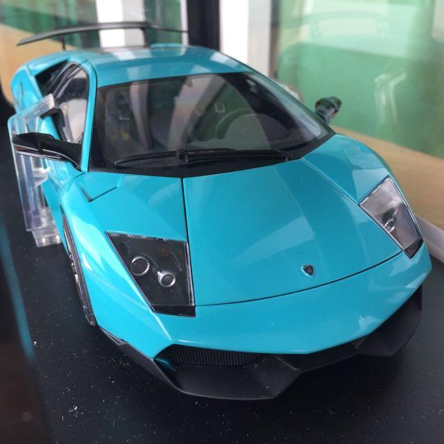 1 18 Autoart Lamborghini Murcielago Lp670 4 Sv Turquoise On Carousell