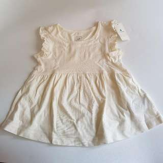 [NEW] Baby GAP Basic Dress White 12-18 Months