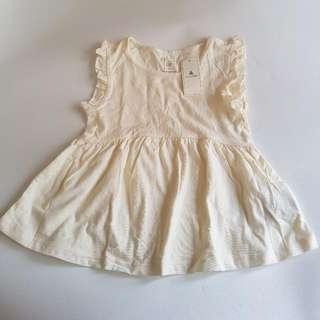 [NEW] Baby GAP Ruffled Basic Dress 18-24 months