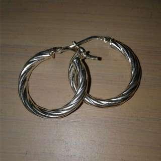 *Plastic* Silver Mimi-hooped Earrings
