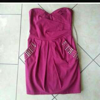 REDUCED PRICE to $20 from $30. #bardot #Beautiful evening or summer #minidress #dress strapless. Lovely pocket details.#size8. Never worn. #brandnew. Unfortunately too tight for me now. Great condition #pink #strapless #embellished