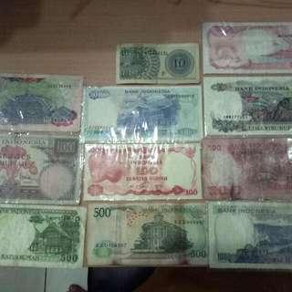 uang kuno 11 lembar