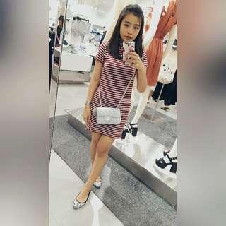 Maroon Stripe Dress