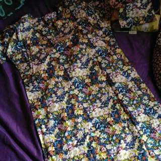 Sweet Baju Kurung Cotton Size 40