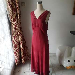 JIGSAW AUTHENTIC RED LONG DRESS