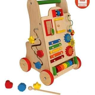 Toddler's Wooden Activity Walker