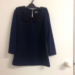 Blue 3/4 Sleeve Top