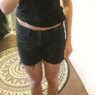 Black Shorts Size 6