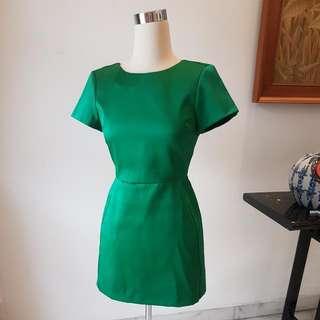 ORIGINAL TOPSHOP GREEN COCKTAIL DRESS