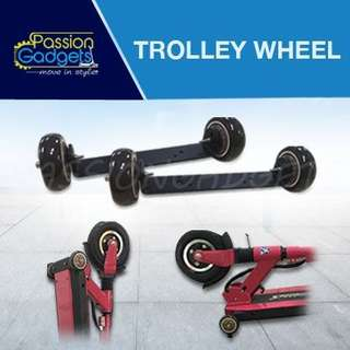 Non-extended Front Mobility/Trolly Wheel for Speedway3/4 mini, Passion Mini 3/4, Inokim Light/Passion Light