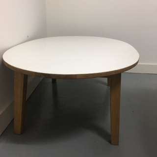 White Round French Oak Coffee Table