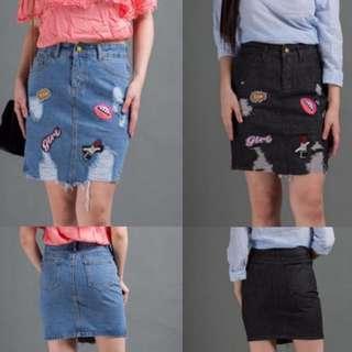 Patched Highwaist Skirt