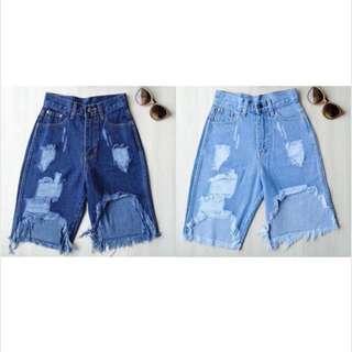 Jenner Tattered Shorts
