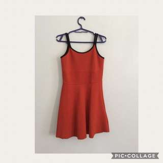 💞orange Cute Dress