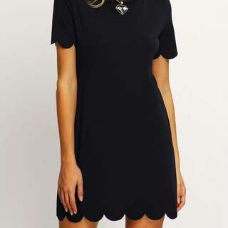 Black Scollop Dress