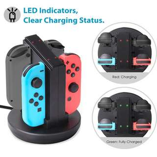 Switch 手制 四充 手掣 充電器 joy-con battery charger
