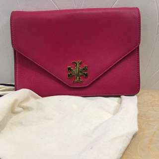 Authentic Tory Burch Clutch Bag With Chain