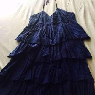 Blue halter dress