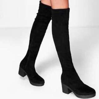 BOOHOO Knee High Boots