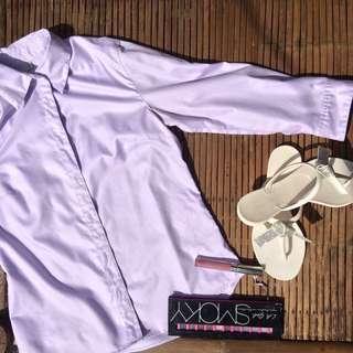 Purple 3/4 Sleeve Polo