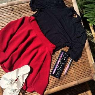 Black Blouse With Red Skater Skirt