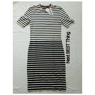 SuperDry Tube Collar Body Con Dress