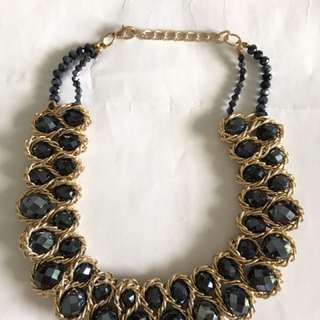 Big Black Pearls Necklace