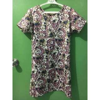 Floral Zip Back Dress