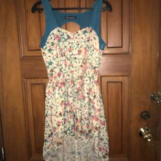 Floral Hi Low Dress (large)