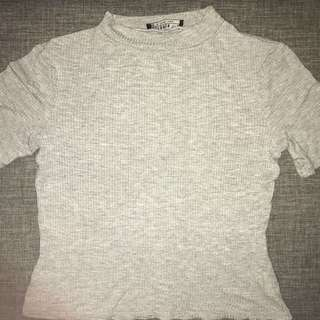 Grey Cotton On High Neck Top