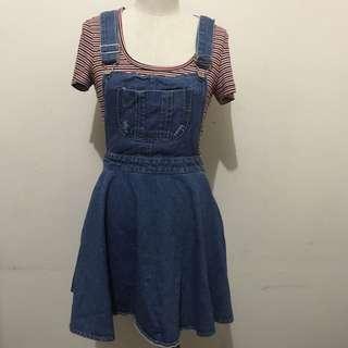 Stylenanda Overall Pinafore Skirt Dress