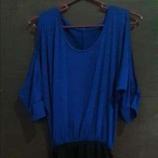 Pencil Cut Ope Shoulder Dress