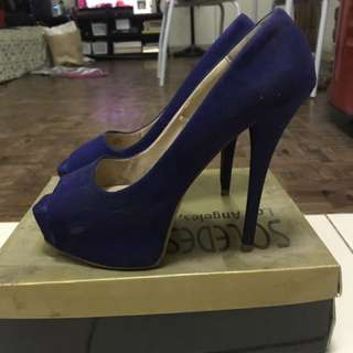 Original/Authentic Zara Blue Pumps