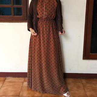 Reprice !! Long Dress Batik Kivitz