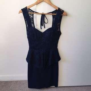 Lace Back Cut-out Dress