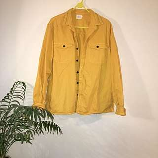 Vanishing Elephant Yellow Shirt Jacket