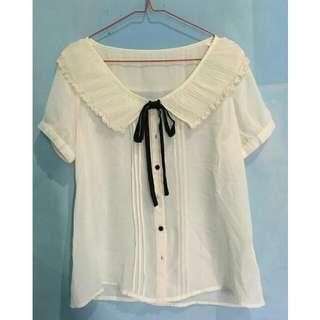 White Colar Blouse Shirt