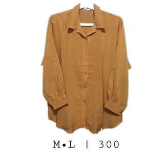 Mustard Long-Sleeve Polo