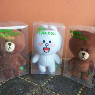 Line Doll/Boneka Original Brown And Conny Plush Doll
