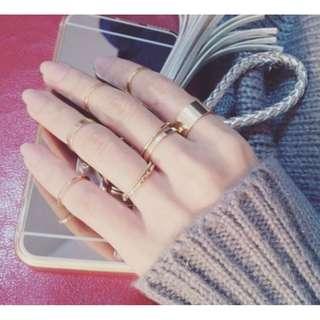 本店實拍✨(現貨出清虧本賣)氣質韓風戒指十件套個性大氣日韓版簡約甜美關節戒指氣質指環戒指 shy008