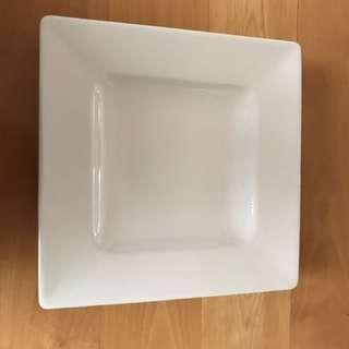Large White Ceramic Platter