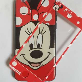 Iphone 6,6s   Minnie Mouse Softcase W/ TG