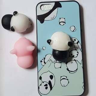 Iphone 5,5s,SE   Panda Squishy Case