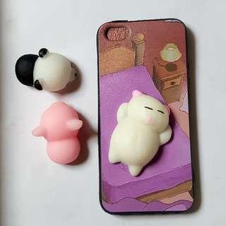 Iphone 5,5s,SE   Lazy Cat Squishy Case