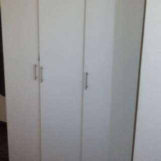 3 Door White Wardrobe