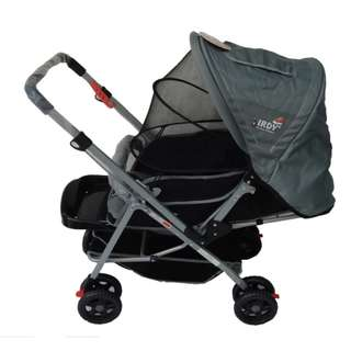 IRDY S0829A Stroller with Mosquito Net (Gray)  (COD)