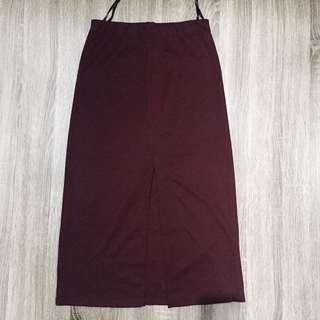 Zalora Maroon Skirt