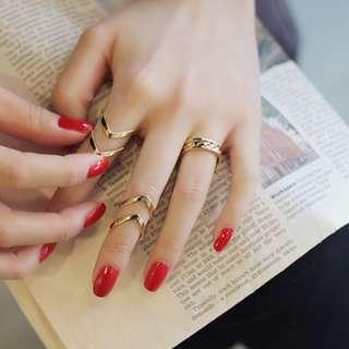 本店實拍✨(現貨出清虧本賣)氣質韓風戒指三件套個性大氣日韓版簡約甜美關節戒指氣質指環戒指 shy008