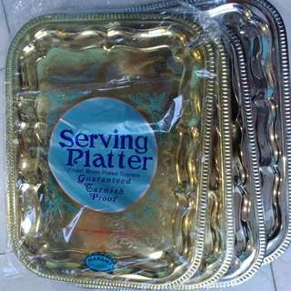 MOVING OUT SALE! GUVEAWAY&SELLING Serving Platter Gold/Silver