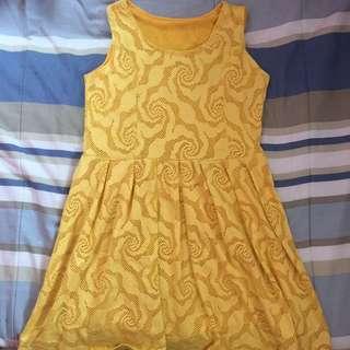 Yellow Midi-dress